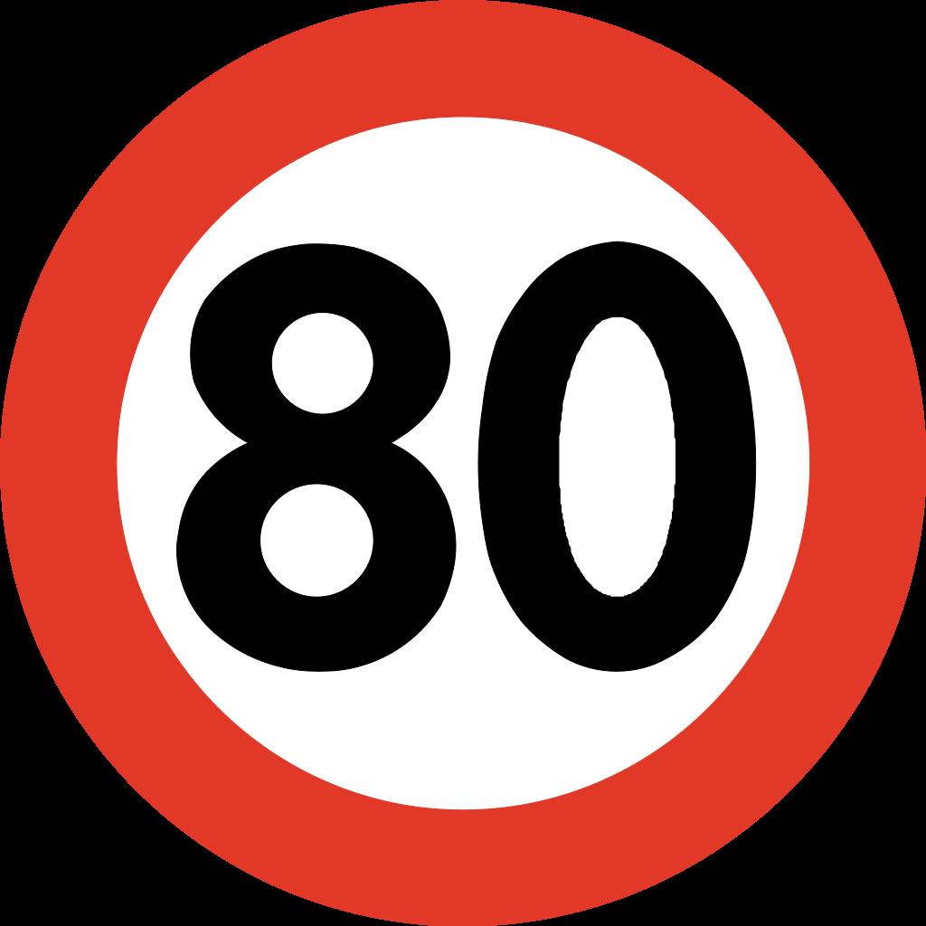 Panneau 80kmh